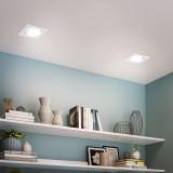 12W White Directional Square LED Recessed Spot Downlights for Large Hole Diamerter 120 -130 MM 1100Lumens Warm White 3000K Lighting Angle 40° for Sloped Ceiling 6 Pack by Enuotek