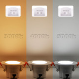 Dimmable 5W LED Ceiling Recessed Downlights Compatible with Trailing Edge Dimmer CCT Adjustable 3000K 4000K 5000K IP44 for Kitchen Bathroom Hole Diameter 65-80MM 6 Lamps by Enuotek