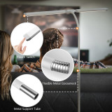 Dimmable LED Flexible White Floor Lamp Standing Reading Light 2X 5W Double LED Lamp Heads Maximum 1000Lm Brightness Daylight 5000K Tall Height 1.5 Meters 1 Lamp