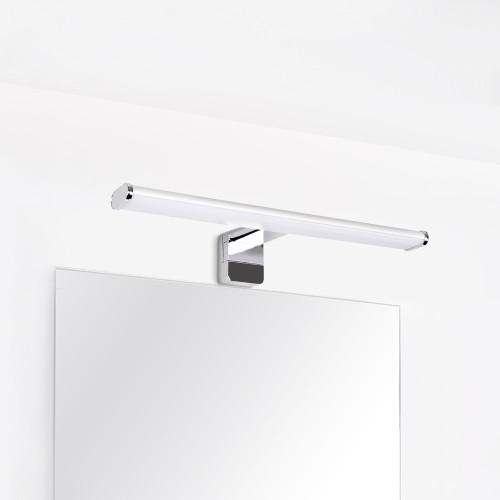 8W LED Bathroom Makeup Over Mirror Light Width 40CM Clip / Above / Wall Mounted Lamp IP44 Dampproof 700Lm Natural White Lighting 4000K Not Dimmable 1 Lamp by Enuotek