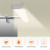 12W LED Bathroom Vanity Wall Light above Mirror Lighting Fixture Lamp Width 600MM IP44 Dampproof 1000Lm Natural White Lighting 4000K Clip/ Above/ Wall installation 1 Lamp by Enuotek