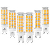 10W G9 GU9 LED Light Bulbs Halogen Lamp Replacement 900Lm SMD5730 Flicker Free Warm White 3000K AC100-265V Not Dimmable CE ETL Approved 6 Pack by Enuotek