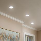 12W Large Recessed LED Downlights Bathroom LED Recessed Ceiling Lights Lighting Color Adjustable IP44 1100 Lumens Hole Diameter 120-140MM Not Dimmable 3 Pack by Enuotek