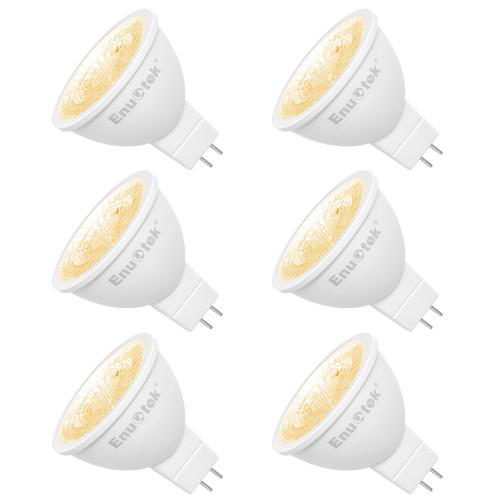 LED MR16 GU5 3 12V Spot Light Bulbs LED Spot Lamps 7W 650Lm 38 Degree Warm White 3000K GU5.3 Bi-Pin Base Not Dimmable Replace 60W Halogen Lamp 6 Pack