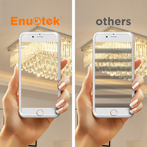 Dimmable 7W G9 LED Capsule Light Bulbs 650Lm 60W Halogen Lamp Equivalent Flicker Free Warm White 3000K 0~100% Brightness Dimmable Available AC220-240V 6 Pack by Enuotek
