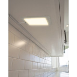LED Kitchen Slim Under Cabinet Panel Lamp Cupboard Light with Touchless Hand Sensor Switch 5W 450Lm Neutral white 4000K DC12V Hardwired and Power Adapter 1 Lamp by Enuotek