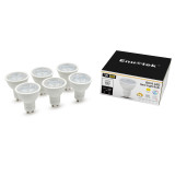 7W GU10 LED Spotlights LED Spot Light Bulbs 3 Steps Dimmable for ON/ OFF Switch Cool White 5000K 100%-40%-15% Brightness 38° Wide Beam Angle Replace 60W Halogen Lamp 6 Pack