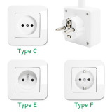 Plug In White Dimmable LED Night Light Bedside Swing Arm Wall Spotlight on Outlet Socket 3W 280Lm Neutral White Lighting 4000K European Outlet Plug No Remote Control Function 1 Pack