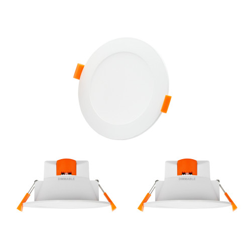 Dimmable 10W LED Ceiling Downlights Recessed Lights Warm Cool White Lighting Color Adjustable 3000K 4000K 5000K 220V-240V Ceiling Hole Diameter 90-105MM IP44 Dampproof 3 Lamps by Enuotek