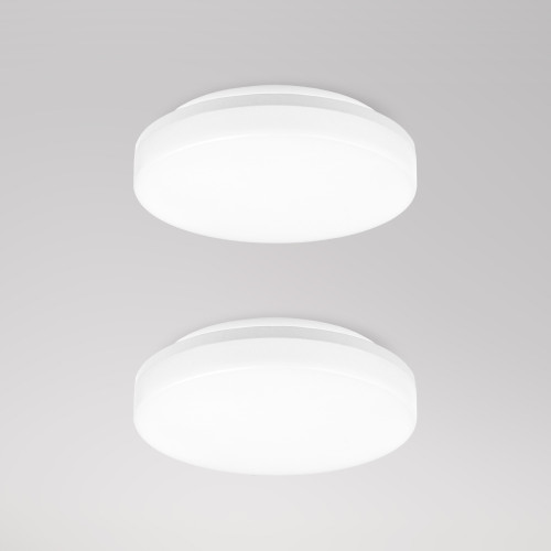 Bathroom LED Small Round White Ceiling Lights 15W 1400Lm 100W Equivalent IP54 22CM Diameter for Kitchen Living Room Bedroom Hallway Not Dimmable AC175-240V 2 Pack by Enuotek