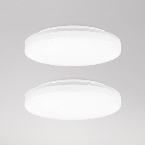 24W LED Big Round Living Room Bath Lamps Ceiling Lights 33CM IP54 CCT Selectable before Installation 3000K 4000K 5000K High Brightness 2100Lm Not Dimmable 2 Pack by Enuotek 2 Pack by Enuotek