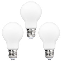A60 LED Globe Energy Saving Light Bulbs 8W 1100Lm Type A Bulb Lamps Diameter 60MM Cool White 5000K Omnidirectional Lighting Replace 80W Incandescent Light Bulb 3 Pack by Enuotek