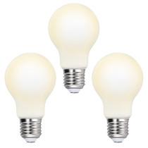 Edison E27 A60 8W LED Globe Light Bulbs Type A Energy Saving LED Light Bulbs 1100Lm 60MM Diameter Omnidirectional Warm White Lighting 3000K with Glass Lamp Shade 3 Pack by Enuotek