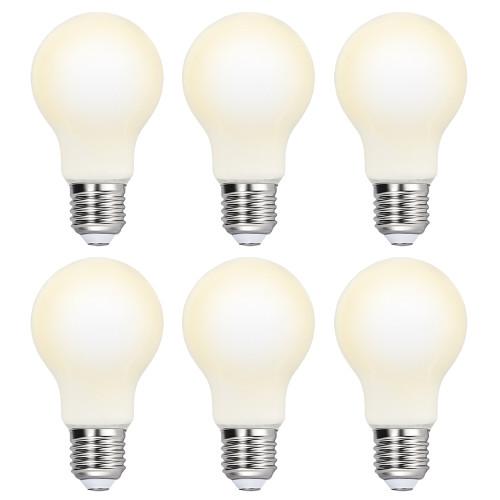 Omnidirectional Lighting A60 8W LED Globe Energy Saving Light Bulb Lamp High Brightness 1100Lm Cool White 5000K Diameter 60MM Replace 80W Incandescent Light Bulb 6 Pack by Enuotek