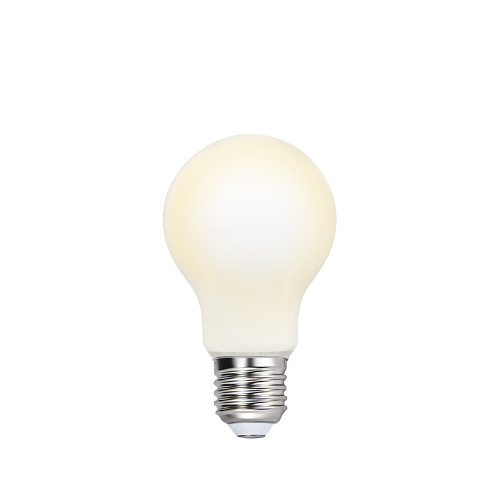 A60 8W 1100Lm LED Globe White Light Bulb Type A 60MM Energy Saving Edison E27 LED Bulb Lamp Warm White 3000K Omnidirectional Lighting with Glass Lamp Shade 1 Pack by Enuotek