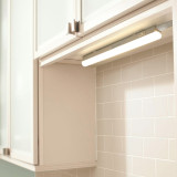 Connectible 5W LED Kitchen Under Cabinet Lamp Under Cupboard Light Tube Neutral White 4000K Length 325MM cETL Listed with Power Plug Replace T5 Fluorescent Light 1 Lamp by Enuotek