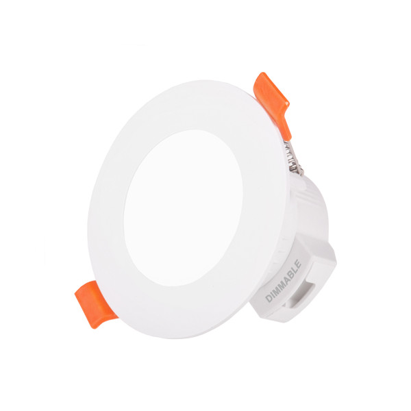 5W Small Diameter LED Recessed Ceiling Lamp Downlight Trailing Edge Dimmable CCT Adjustable 450Lm IP44 Dampproof for Bathroom Hole Diameter 65-80MM 1 Lamp