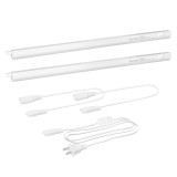 Connectible T5 9W LED Under Cupboard Light Tube Kitchen Worktop Lamp Neutral White 4000K Length 589MM with American Power Plug Replace T5 Fluorescent Light Fixture Pack of 1 Lamp by Enuotek