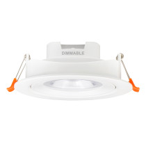 Dimmable Angled 12W Sloped Ceiling LED Recessed Down Lights Directional LED Spot Lamps CCT Adjustable 3000K 4000K 5000K 40º Beam Angel Cut Hole Diameter 120-130MM 3 Pack by Enuotek