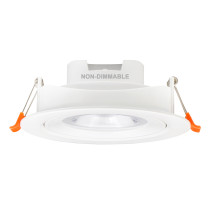 4 Inch 12W LED Downlight Retrofit Halogen Recessed Ceiling Spotlight Angled Lighting Color Selectable 3000K 4000K 5000K Cut Hole Diameter 120-130MM AC100~240V Beam Angel 40° 1 Pack