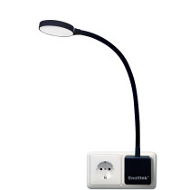 Plug In Dimmable LED Wall Night Light Swing Arm Wall Lamp with Outlet Power Socket Plug 4W 350Lm Neutral White Lighting 4000K Non Remote Controlled Version 1 Lamp by Enuotek