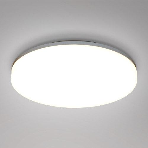 18W LED White Round Ceiling Panel Light Fixture CCT 3000K 4000K 5000K IP54 for Bathroom Kitchen Balcony Diameter 28CM High Brightness 1600Lm Not Dimmable 1 Pack