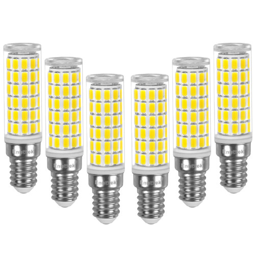 E14 LED Corn Bulb 10W, 100W Incandescent Equivalent, 900Lm 6000K Cool White AC100-265V, Non-Dimmable SES 75X SMD5730 LED Bulb for Living Room, Office, Kitchen& Bathroom 6 Pack