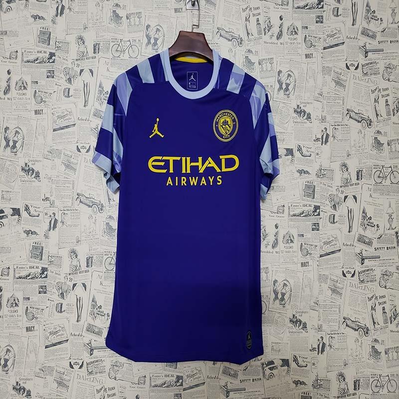 Alegre profundizar Velocidad supersónica  Manchester City Jordan version blue 2019 2020 Soccer Jersey Size: S to 2XL
