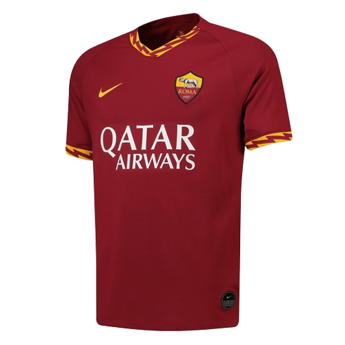 19 20 Roma Home Red Soccer Jerseys Shirt