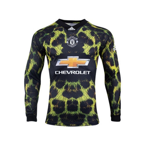 18 19 Manchester United Ea Sports Green Long Sleeve Jerseys Shirt