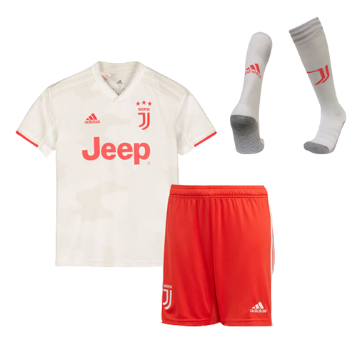19 20 Juventus Away White Children S Jerseys Kit Shirt Short Socks