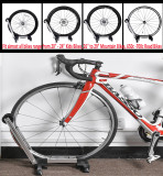 Sports Foldable Alloy Bicycle Storage Stand Bike Floor Parking Rack Wheel Holder Fit 20 -29  Bikes Indoor Home Garage Using