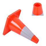 6PCS 18  Traffic Cones PVC Safety Road Parking Cones Weighted Hazard Cones Construction cones for traffic Fluorescent Orange w/4  Reflective Strips Collar