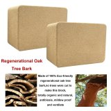 2 Pack Eco-friendly Cork Yoga Blocks 4inch Thick Laser Edge Anti-friction Anti-slip Natural Yoga Brick Wet Absorbent Odor-Resistant and Moisture-Proof to Support and Deepen Poses