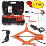 Electric Car Floor Jack 3 Ton/5 Ton All-in-one Automatic 12V Scissor Lift Jack Set for Sedans SUV w/Double Saddles Remote Hydraulic Tire Change Repair Emergency Tool Kits Vehicle Floor Jack Wheel Change