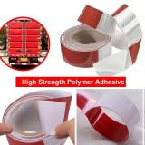 Waterproof Reflective Safety Tape Roll 2 X142' Feet Long Red White DOT C2 Auto Truck Safety Reflector Strips Self-adhesive Conspicuity Safety Hazard Caution Warning Sticker for Vehicle Car Trailer