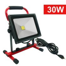 100W\30W LED Work Light Outdoor IP65 Waterproof LED Flood Lights w/16ft/5M Cord with Plug Portable Camping Emergency Lights Stand Industrial Working Light (Yellow-100W, 100W)