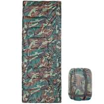 3 Season Flannel Lined Sleeping Bag for Hiking Camping Camo 79  x 32