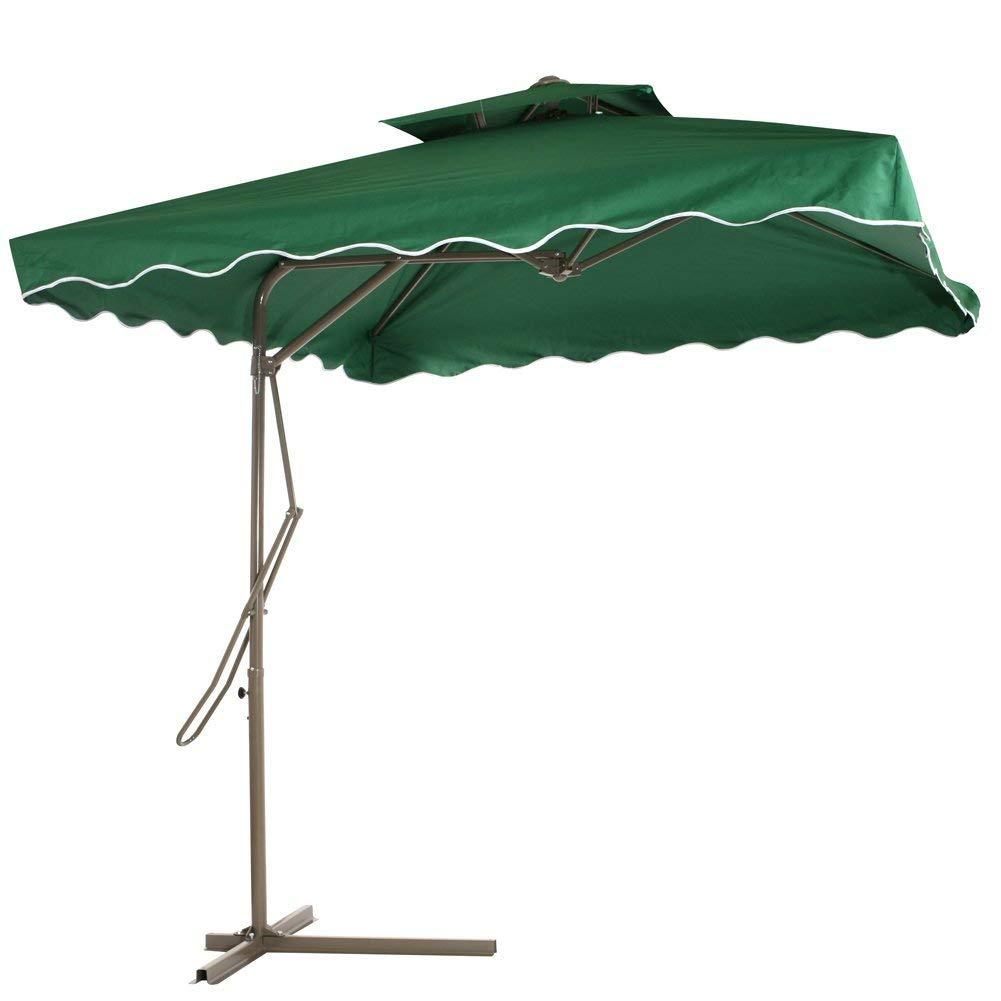Reliancer Patio Umbrella,7.2\' x 7.2\' Square Offset Garden Umbrella ...
