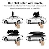 Reliancer Car Tent with Remote Automatic Hot Summer Car Umbrella Cover Portable Movable Carport Folded Automobile Protection Sun Shade Anti-UV Canopy Sun-proof Shelters SUV(Automatic Silver)