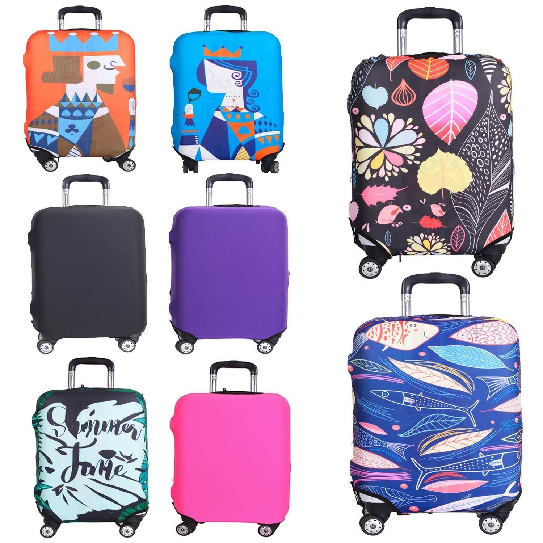 GIOVANIOR Cartoon Llama Alpaca Luggage Cover Suitcase Protector Carry On Covers
