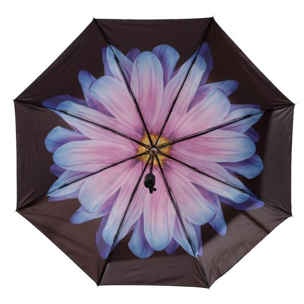 Reliancer Premium Automatic Umbrella Windproof Travel Umbrella Compact Folding Rain&Sun Umbrella UV Protection fit Backpack for Men and Women Reinforced Canopy Auto Open Close(Sun Umbrella,Red Flower)