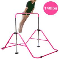 Expandable Gymnastics Bars Junior Training Bar Adjustable Height Gymnastic Horizontal Bars Children Folding Training Monkey Bars Child Gym Climbing Tower Kip Balance Bar for Kids Gymnasts