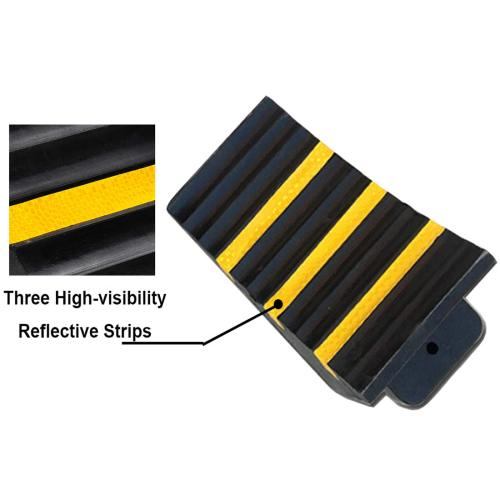 Truck Genubi Industry 2 Pack Black Heavy Duty Extra Large Solid Rubber Wheel Chock with Portable Handle for Travel Trailer Commercial Vehicle and RV 9.5 Inches x 6 Inches x 7 Inches