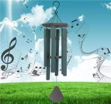 Reliancer Memorial Wind Chime Outdoor Large Deep Tone 31'' Amazing Grace Wind-Chime with 6 Aluminum Tubes Elegant Melodic Sympathy Chimes Windbell Home&Garden Decor Patio Balcony Gift(Green)