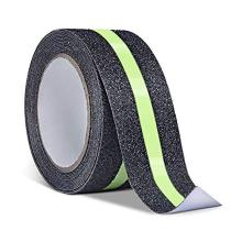 Reliancer Anti Slip Safety Grip Tape 2inx30ft Green Glowing In The Dark Non Skid Stage Safety Tape w/Luminous Fluorescent High Traction Grit Stairs Tape Hazard Caution Warning Tape for Steps(2 ×30')