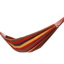 Reliancer Protable Canvas Travel Hammock Ultralight Camping Hammock for Leisure Time Indoor & Outdoor Use