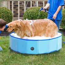 Reliancer Foldable Dog Swimming Pool 32  Folding Pet Bath Pool Collapsible Cat Bathtub Portable PVC Kiddie Pool Spa Bathing Wash Tub Water Pond Pool Toddler Baby Bath Kids Play Pool Whelping Box