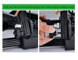 Reliancer 2 Pack Sports Foldable Alloy Bicycle Storage Stand Bike Floor Parking Rack Wheel Holder Fit 20 -29  Bikes Indoor Home Garage Outdoor Using (2 Pack, Black)