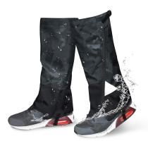 Leg Gaiters Waterproof Snow Boot Gaiters 900D Anti-Tear Adjustable Shoes Gaiters High Leg Cover for Men Women Outdoor Hiking Walking Hunting Skiing Snowshoeing Camping Climbing (Black Jacquard)